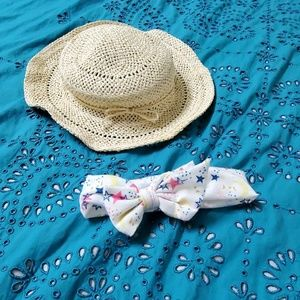 Other - Straw hat and head band